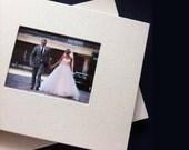8.75x11.25 inch Custom Linen Digital Wedding Album with Picture Window