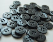 Gray 4 hole Pearlized Buttons - 1/2 inch x 25 - See Shop Announcement for 60% off code