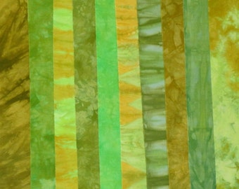 Hand Dyed Fabric - ACID TEST Stash Pack - 10 Fat Eights