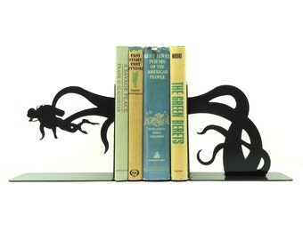 Scuba Diver Tentacle Attack Bookends - Free USA Shipping