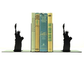 Statue Of Liberty Metal Art Bookends - Free USA Shipping