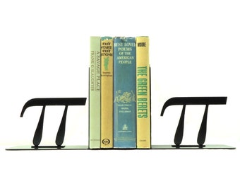 Pi Symbol Metal Art Bookends - Free USA Shipping