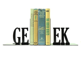 Geek Metal Art Bookends - FREE USA Shipping