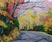 Somewhere on the Cades Cove Loop Original Watercolor by Michael Joe Moore