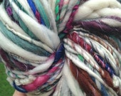 RESERVED RESERVED Art yarn. 102 yds approx 7 oz handspun, homespun, thick and thin, super bulky, super soft