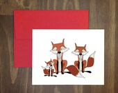 anytime card / fox family / greeting for new parents or family / animal lovers / for any occasion / mothers or fathers / just because