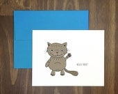anytime card / hello there / little cat card / for the cat lover / just because / say hello / birthday / crazy cat lady / blank inside