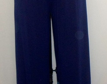 Coco and Juan Plus Size Pants Navy Blue Traveler Knit Full Leg Pant  Longer Lenght  31 inch Inseam Size 2 fits 3X,4X