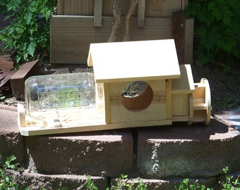 Old Rustic Wooden Mill Squirrel Feeder