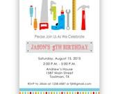 Tool Birthday Invitation - digital file