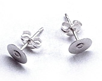 Sterling Silver Earring Backs Upgrade, One Pair Sterling Silver 925 Earring Posts and Butterfly Backs, 6mm or 4mm
