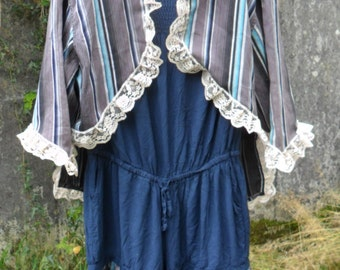Victorian Beach Belle Steampunk Beach Playsuit