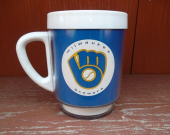 Vintage Thermo Serv Serve Type Promotional Milwaukee Brewers Maxwell House Coffee Mug