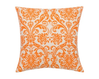 ORANGE Pillow Cover.Decorator Pillow Cover.Home Decor.Large Print. ABIGAIL MANDARIN.Cushions. Cushion.Pillow. Premier Prints