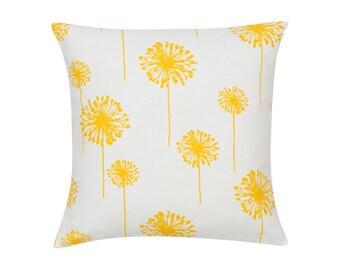 YELLOW Pillow Cover.Decorator Pillow Cover.Home Decor.Large Print.DANDELION.Cushions. Cushion.Pillow. Premier Prints