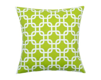 LIME GREEN Pillow Cover.Decorator Pillow Cover.Home Decor.Large GOTCHA Lime Print.Cushions. Cushion.Pillow. Premier Prints