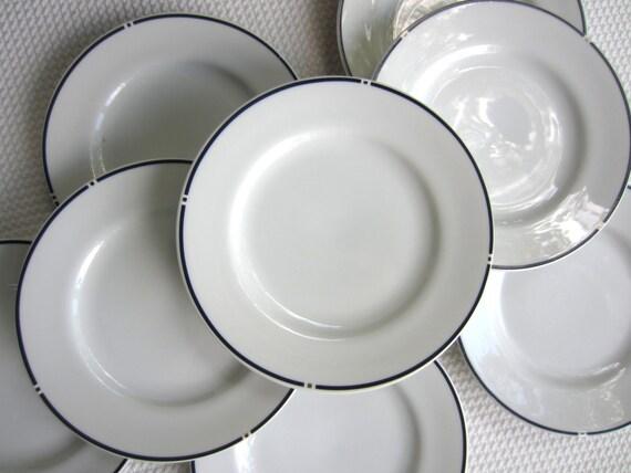 Vintage Gwathmey Siegel American Airlines Bread Plates Swid Powell set of 8