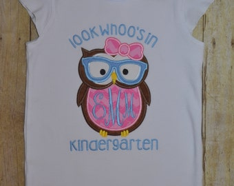 Look who's in Kindergarten - 5th grade ruffle shirt.