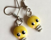 Tiny happy Lightbulb earrings