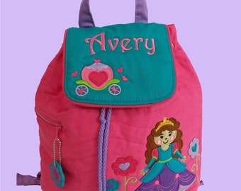 Personalized Child's Stephen Joseph Quilted PRINCESS  Backpack-Monogrammiong Is Included