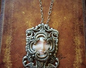 The Empress - Polymer Clay Face Necklace