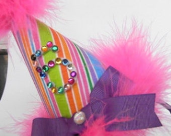 Rainbow Head Band Birthday Party Hats for Children