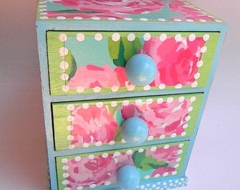 Hand Painted Jewelry Boxes-First Impression-Lilly Jewelry Box-Rose jewelry box-Kids trinket box-keepsake box