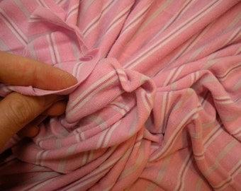 Pink Candy Stripe Knit Fabric