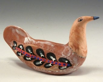 Anna - Sculpted Ceramic Bird by Jenny Mendes