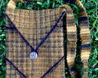 Shoulder Bag, Hand Woven Original, Mossy Olive Greens