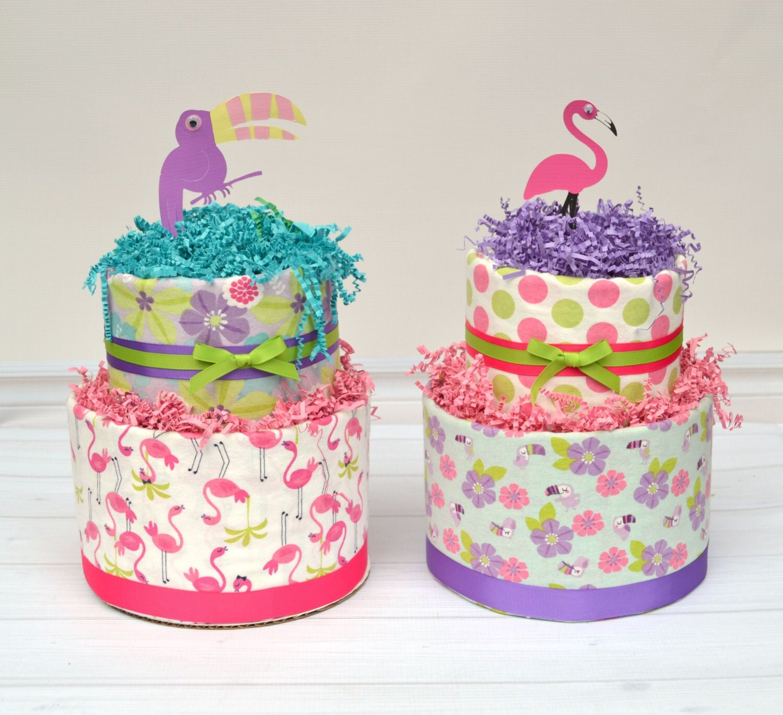 flamingo baby shower flamingo diaper cake by babyblossomco on etsy