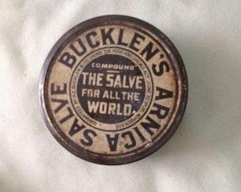 Bucklen's Arnica Salve tin antique