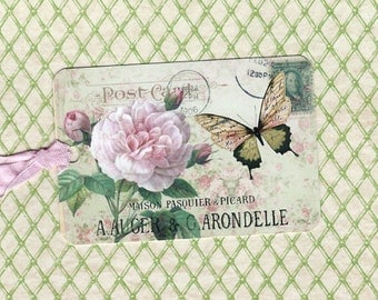 Tags, Butterfly, French Tags, Roses, French Rose Tags, Gift Tags