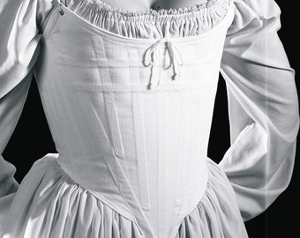 c. 1770 Judith Corset in Coutil or Brocade, Small-2XL 18th Century Stays Marie Antoinette Rococo Baroque