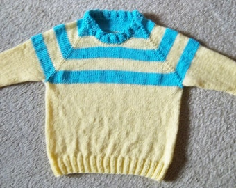 Knit Raglan Sweater for 4 year old Children - Boy or Girl