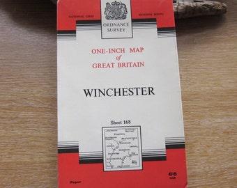 1963 Vintage Ordnance Survey Map of Winchester