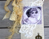 Shabby Fabric Bookmark