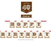 Hoppy 40th Birthday Banner