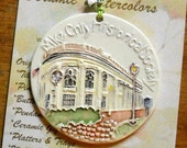 Milwaukee COUNTY HISTORICAL SOCIETY textured ornament with free gift wrap