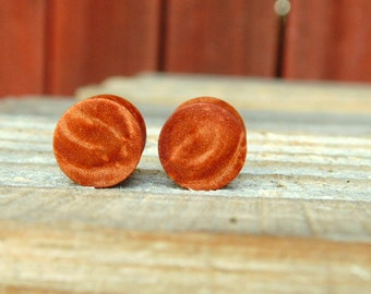 "11mm Maple burl wood ear plugs, Organic 7/16ths"" hand crafted gauges"