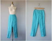 1960s Pants | 60s Pants | High Waisted Pants | Cropped Pants | High Rise Trousers
