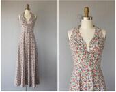 Vintage 1970s Maxi Dress | 70s Maxi Dress | 1970s Halter Dress | Vintage Lanz Dress | Vintage Maxi Dress