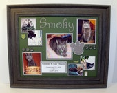 Personalized Cat Memorial Picture Frame - 11x14 Frame - Any Colors You Choose