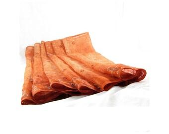 Copper Silk Scarf Sari Silk Infinity Scarf Gift for Her Silk Scarf Silk Cowl Fall Scarf Summer Scarf Lightweight Scarf Eco Friendly Rust