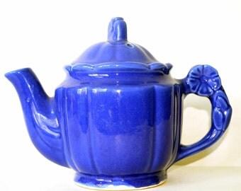 WWII Era cobalt blue teapot