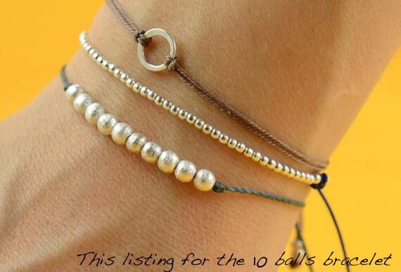 Sterling silver bracelet 10 balls bracelet