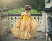 Belle dress inspired princess dress  size 6 ball gown