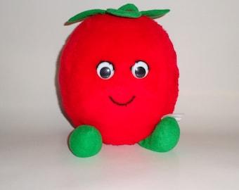 "Del Monte Fruit 1983 Advertising Premium Plush Country 9"" Reddie Tomato Country Yumkin Toy Vegetable"