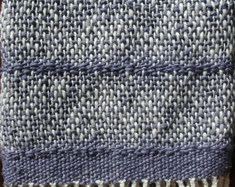 Organic Cotton Handwoven Baby Blanket- Periwinkle Plum