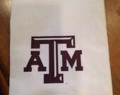 Texas Aggies, flour sack towel,tea towels, kitchen, Aggies